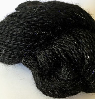 Breezy Hill Cottage-Milled Yarn, with filament - Black