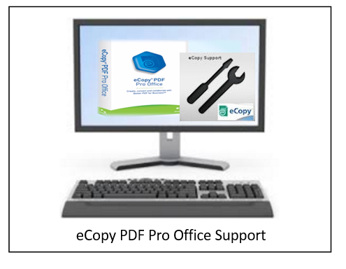 eCopy PDF Pro Office 1 license 10 users 1 year of support