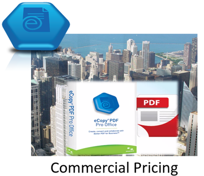 eCopy PDF Pro Office version 6.3 1 license 6 users 18 months support