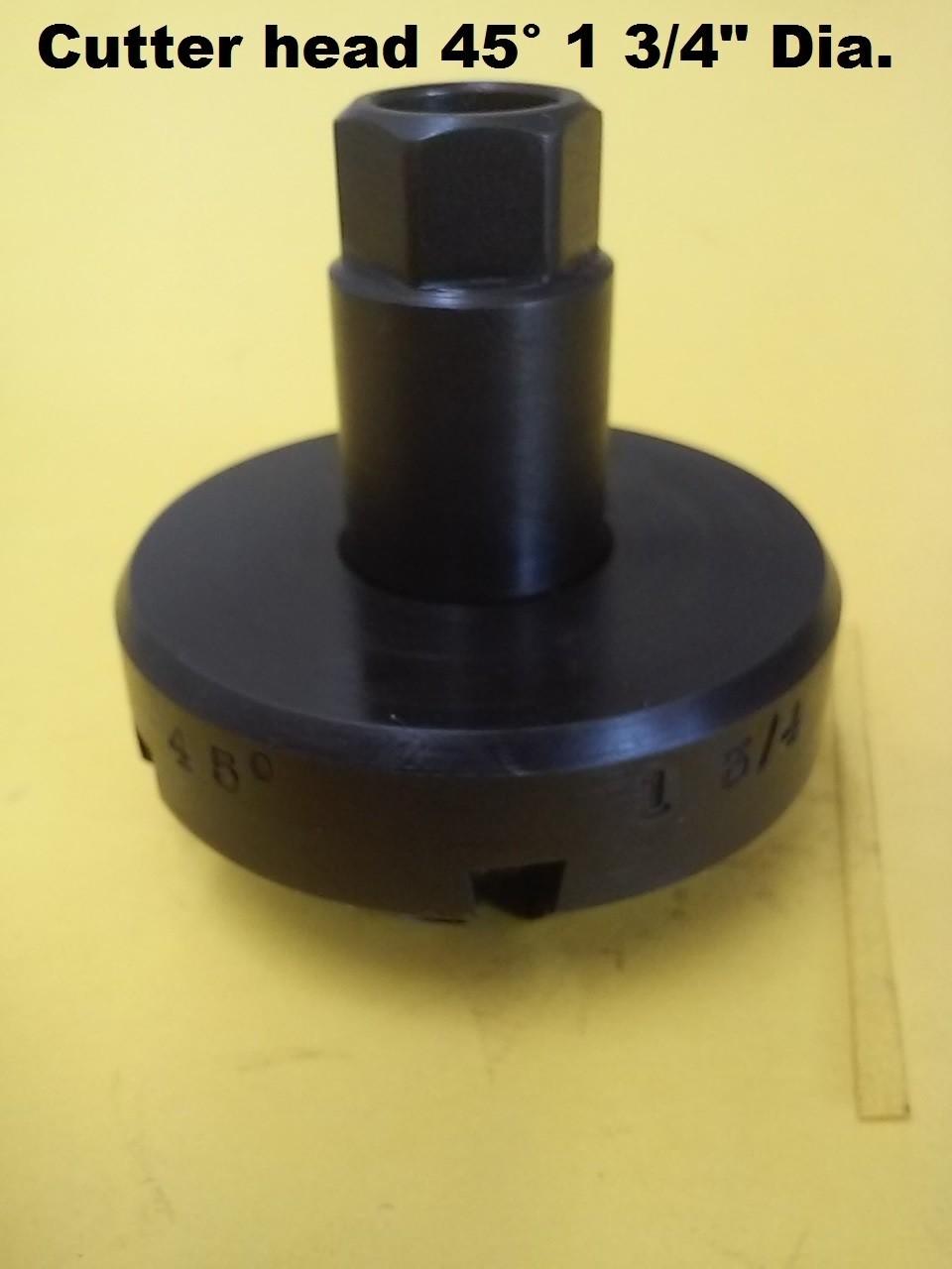 "Cutter Head 1 3/4"" Diameter 45° angle"