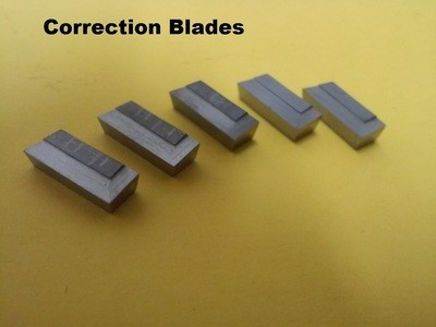 Correction blades, flat set of 5 blades