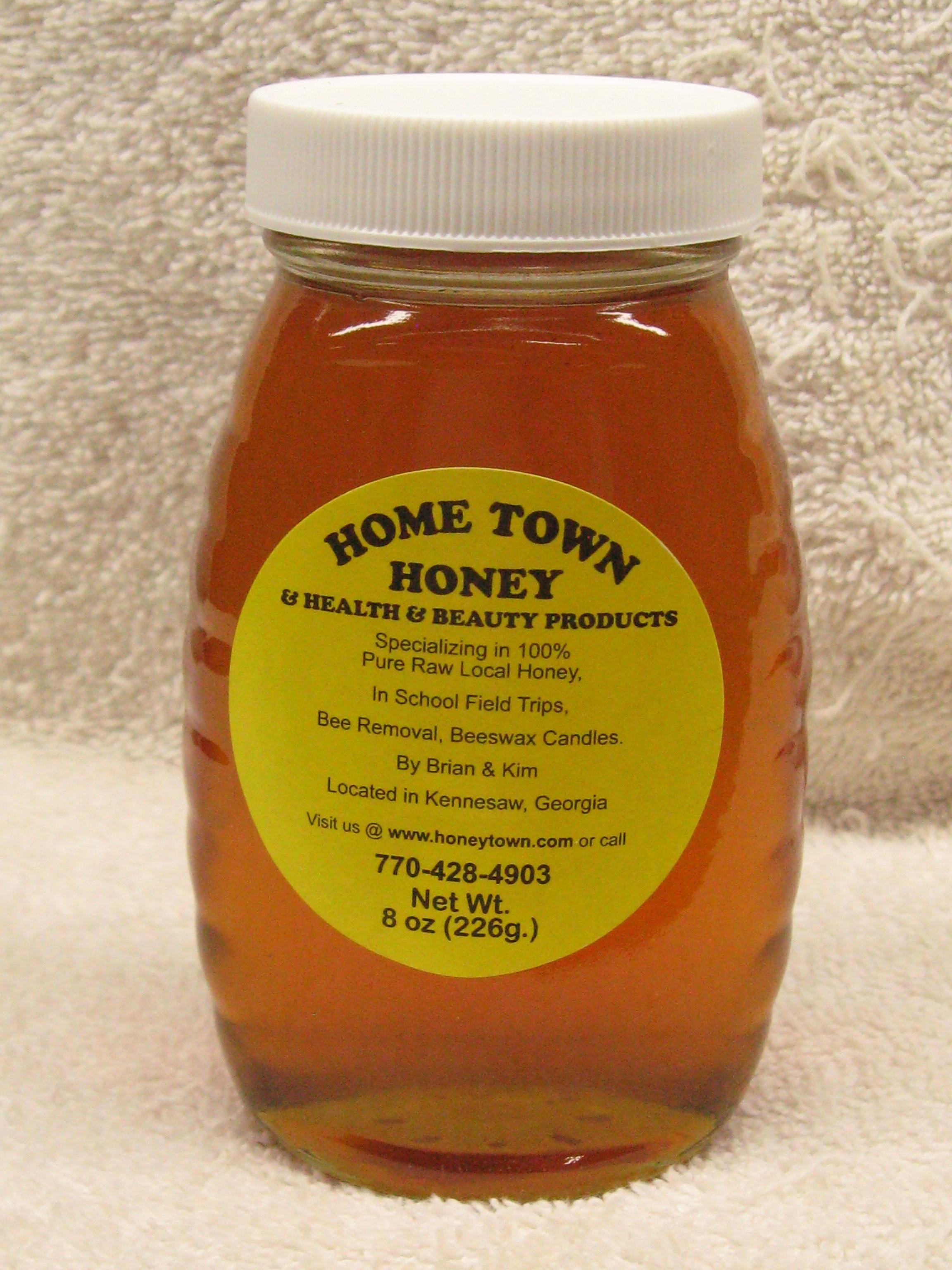 8oz Glass Jar of Honey 8ozJarG