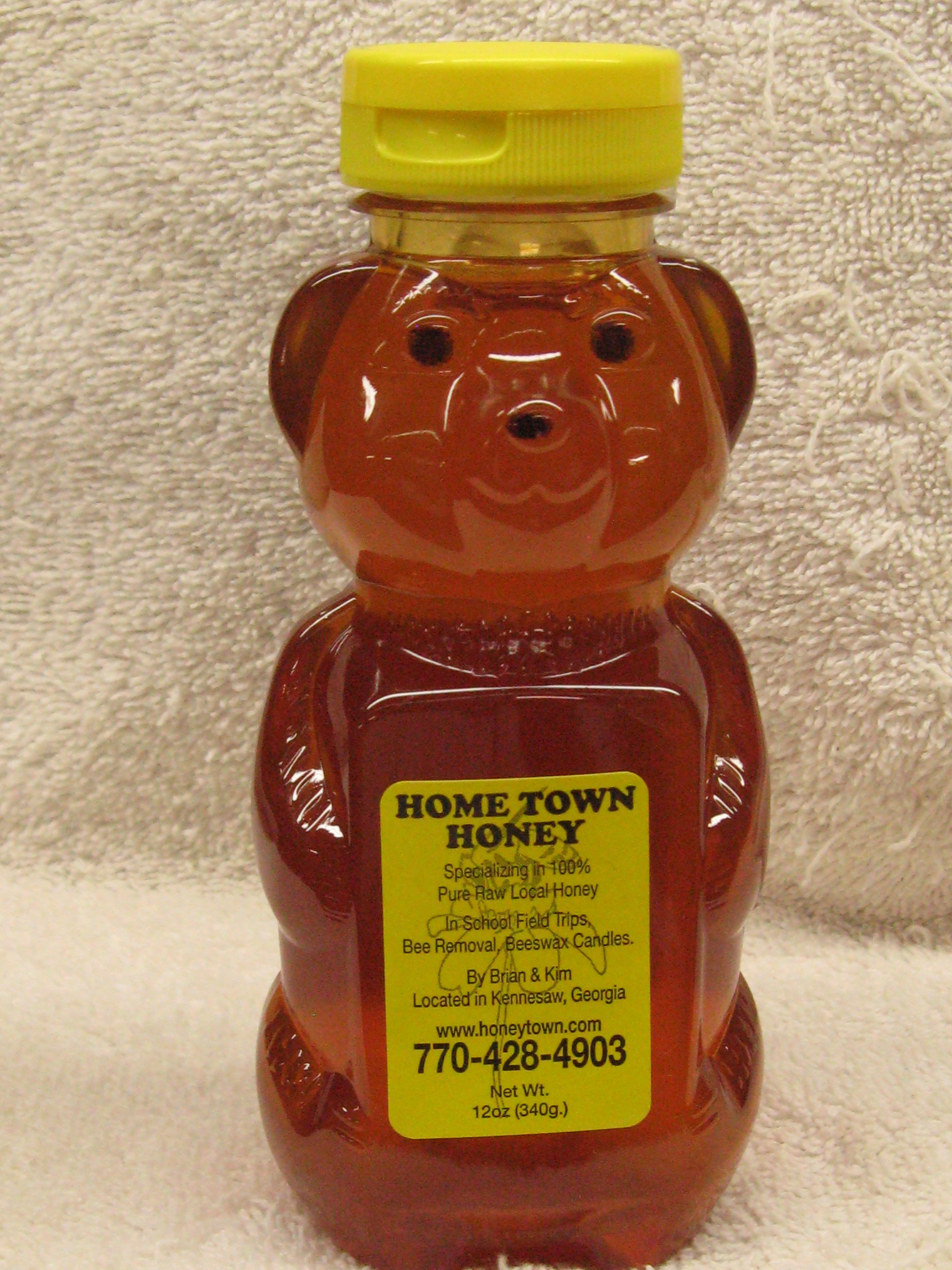 12oz Plastic Honey Bear 12ozHBear