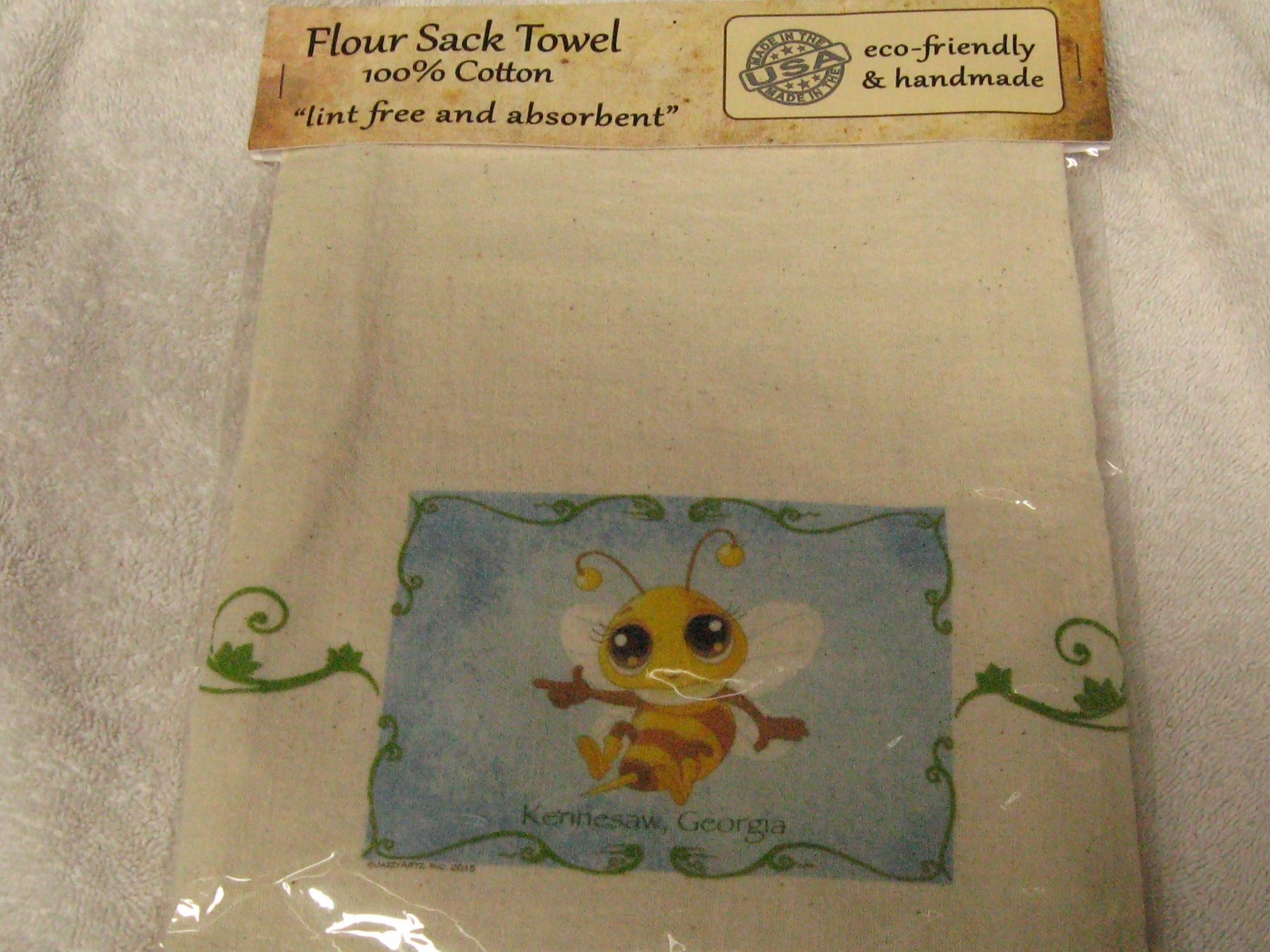 Towel- Bee Flour Sack Hand Towel hth002
