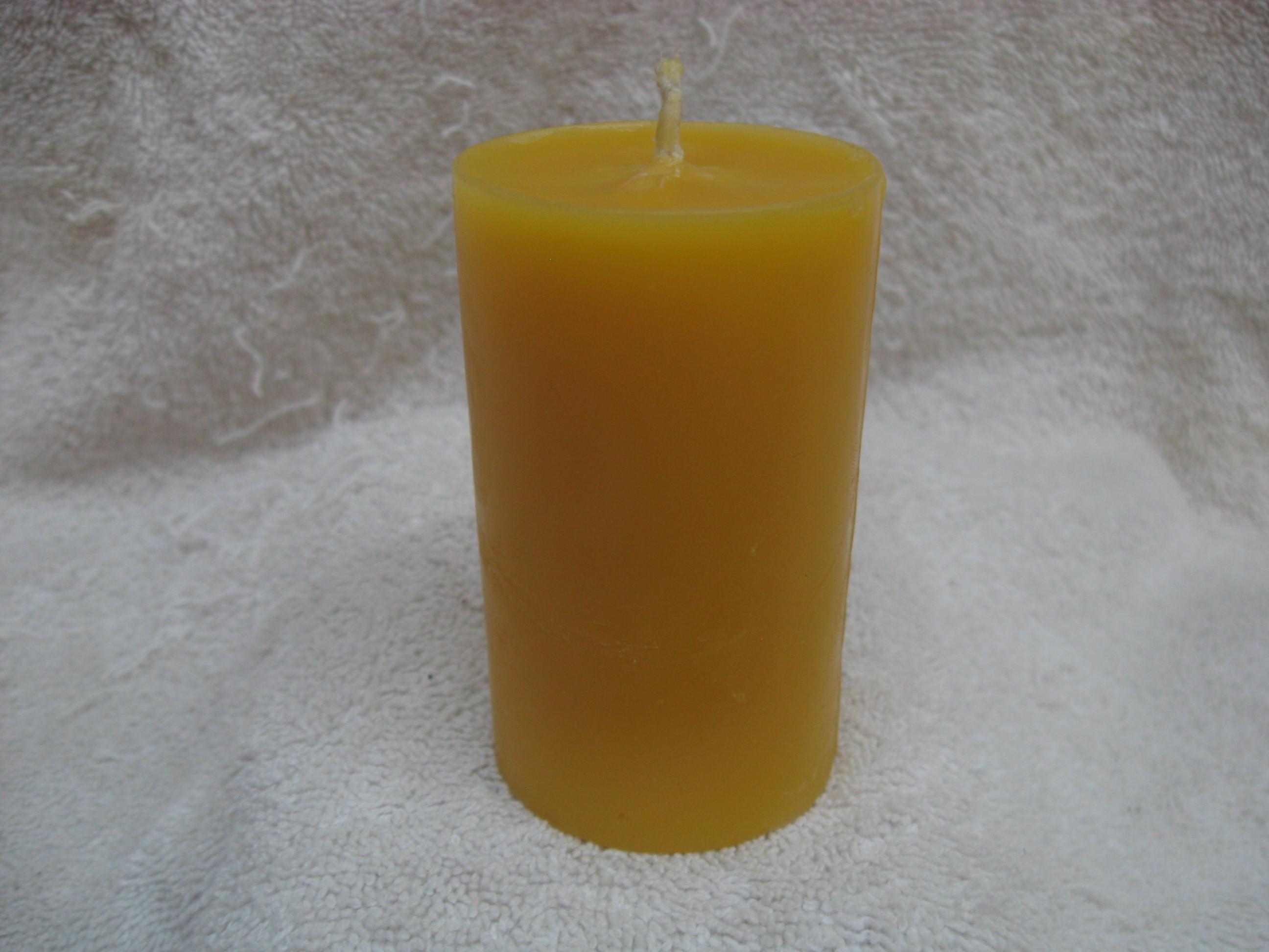 Plain Pillar Candle 2 x 3 001214