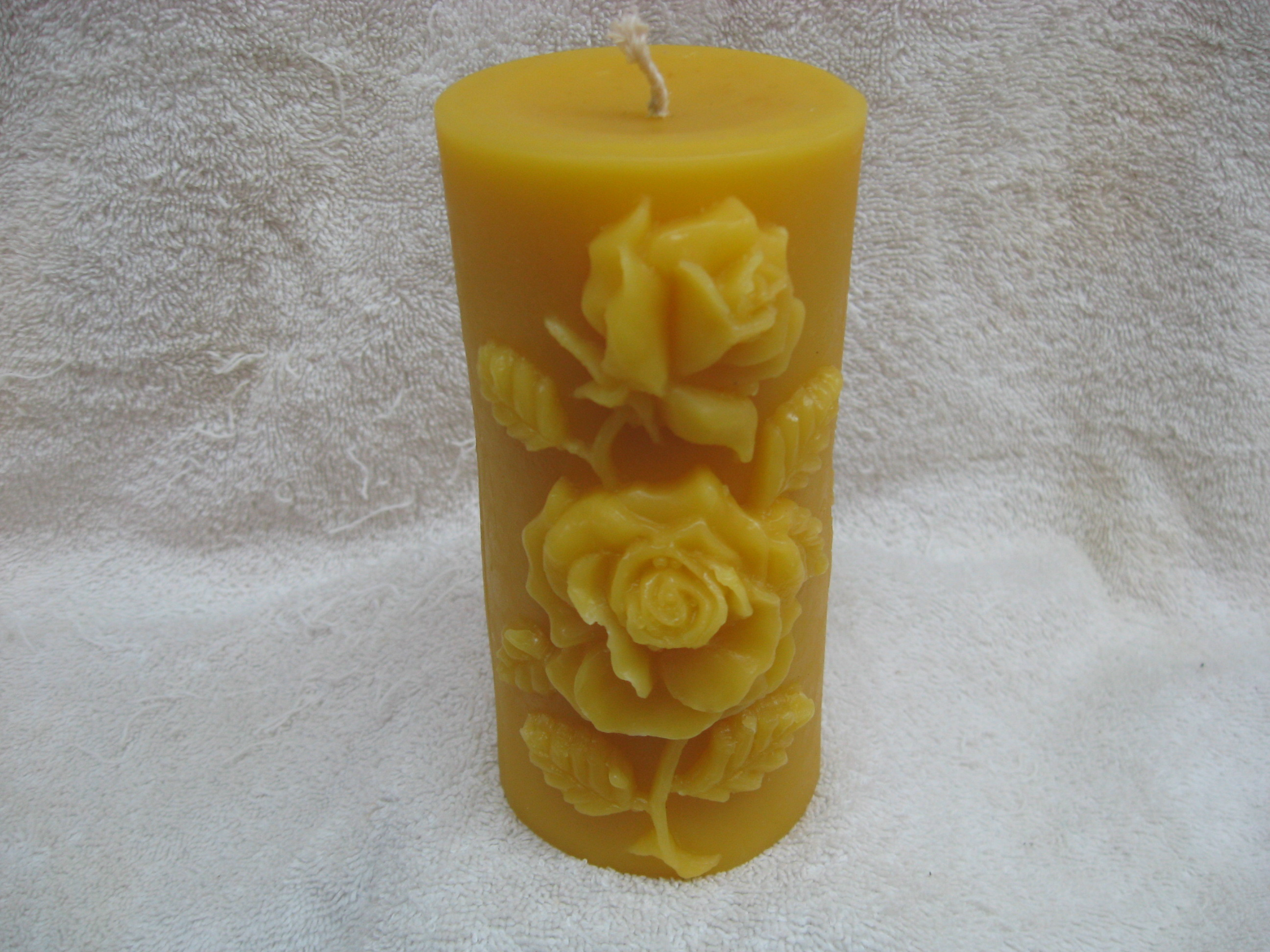Rose Pillar Candle 0012115