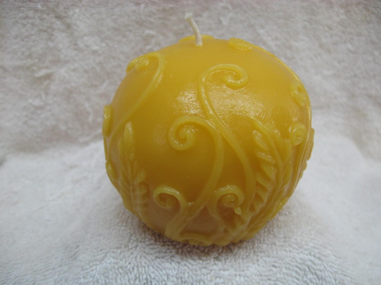Rustic Fern Ball Candle