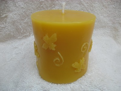 Pillar with Bees Candle