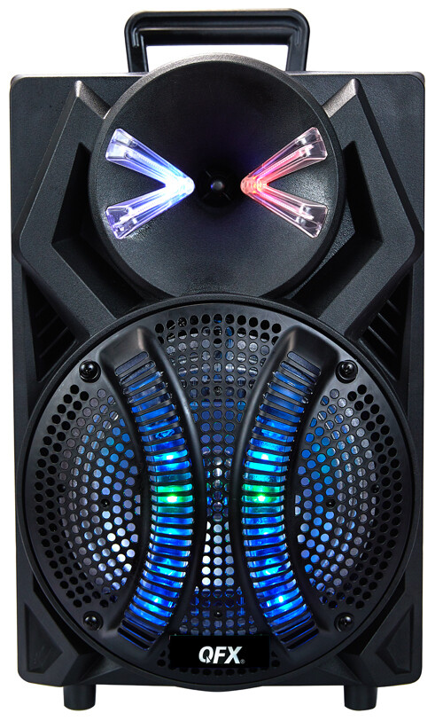 "QFX 8"" PORTABLE PARTY SPEAKER WIRED MICROPHONE PBX-108"