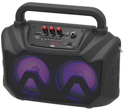 "QFX 2x5"" PORTABLE PARTY SPEAKER bt-2001"