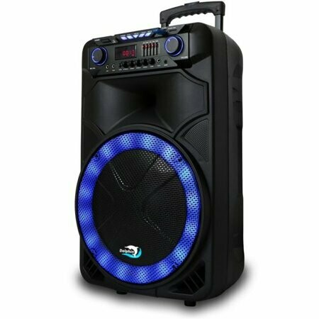 dolphin sp-1500rbt rechargeable 15 in. bluetooth tailgate speaker with leds