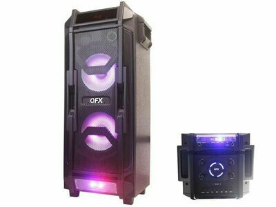 "QFX 2x8"" PORTABLE PARTY SPEAKER pbx-208"