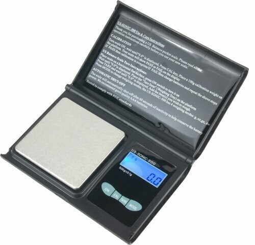 US BALANCE Digital Pocket Scales Jewelry Scale, 500 x 0.1gm, Black