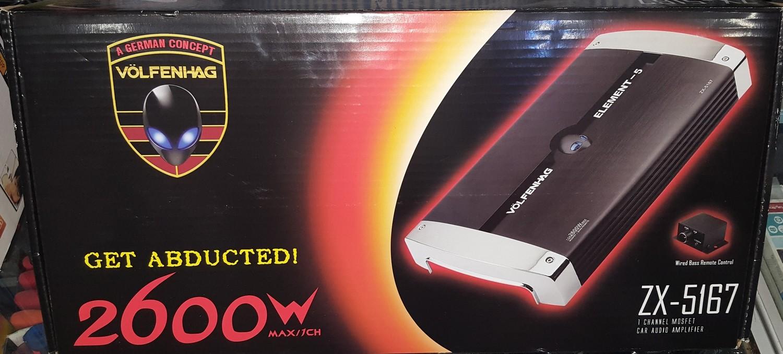 VOLFENHAG Mono Channel 2600Watt Car Audio Amplifier