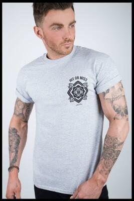 Eye Mandala T-Shirt - Grey