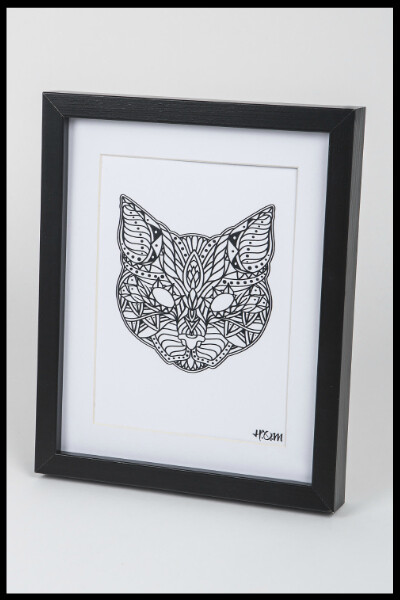 Cat Mandala Print