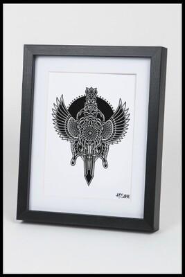 Beetle Dagger Print