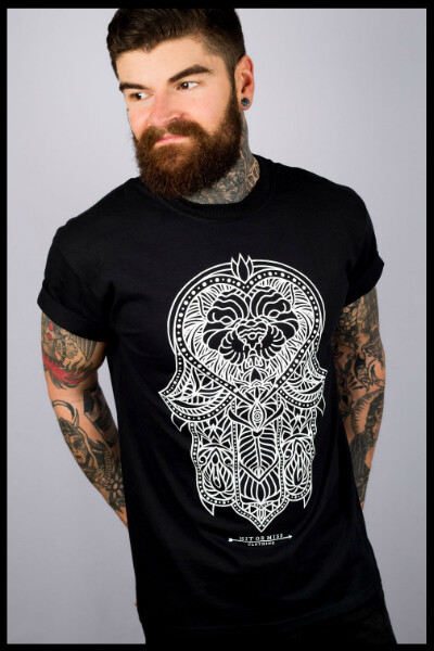 Hamsa Lion T-Shirt - Black