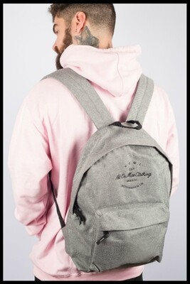 ​H.O.M.C Embroidered Backpack - Grey