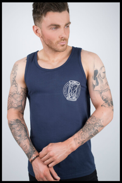 It's Never Too Late Vest - Navy Blue
