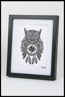 Owl Dream Catcher Print