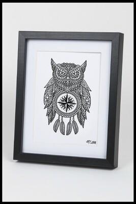 Owl Dream Catcher Print