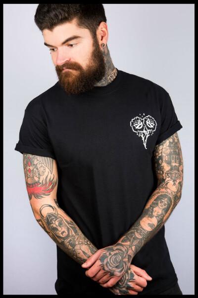 Rose T-Shirt - Black
