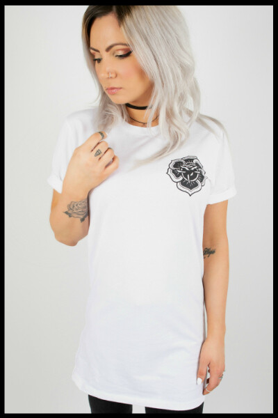Rose Mandala Longline - White
