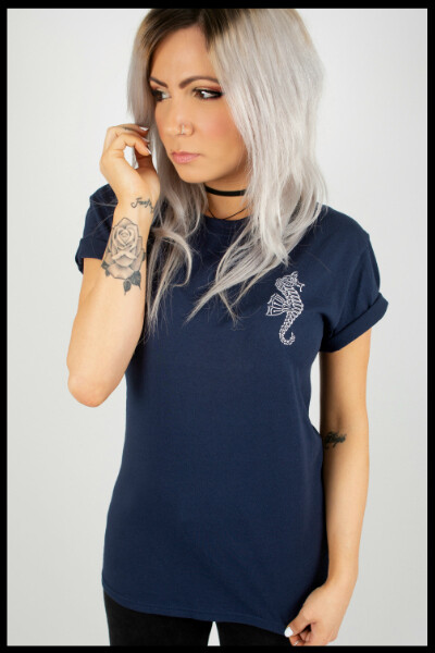 Ocean T-Shirt - Navy Blue
