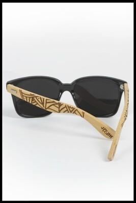 Mandala Wayfarer Sunglasses - Black