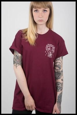 Hands & Knives T-Shirt - Maroon