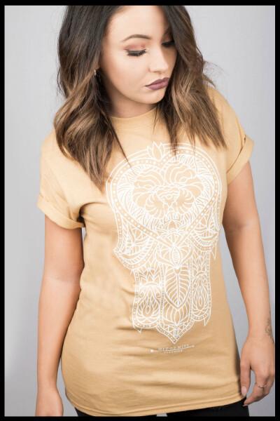 Hamsa Lion T-Shirt - Mustard