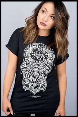 Hamsa Lion T-Shirt - Black