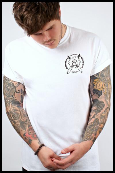 Rose Dagger T-Shirt - White [Black Print Special Edition]