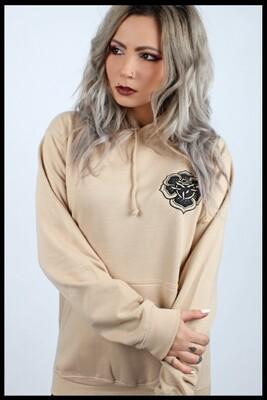 Rose Mandala Pullover Hoodie - Beige
