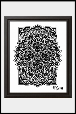 Rose Mandala Print