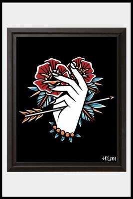 Hand & Arrow Print