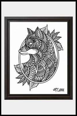 Fox Mandala Print