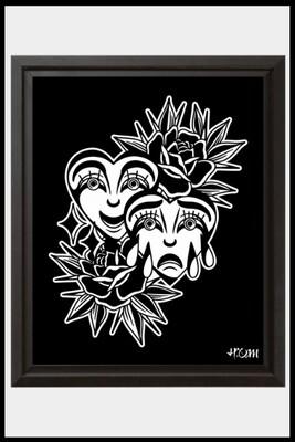 Love & Hate Print