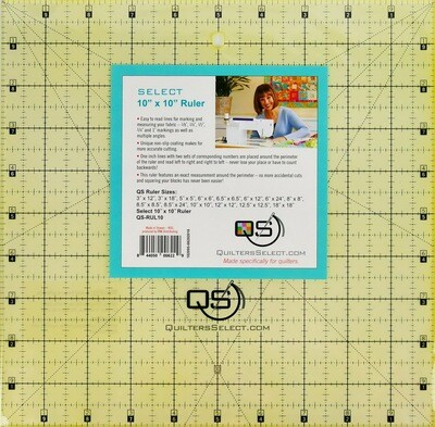 Quilters Select 10x10 Non-Slip Ruler
