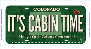 It's Cabin Time License Plate 00001