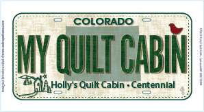 My Quilt Cabin License Plate