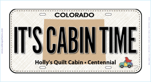 It's Cabin Time License Plate 00007