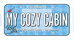 My Cozy Cabin License Plate 1391