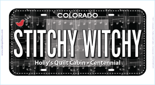 Stitchy Witchy License Plate 430