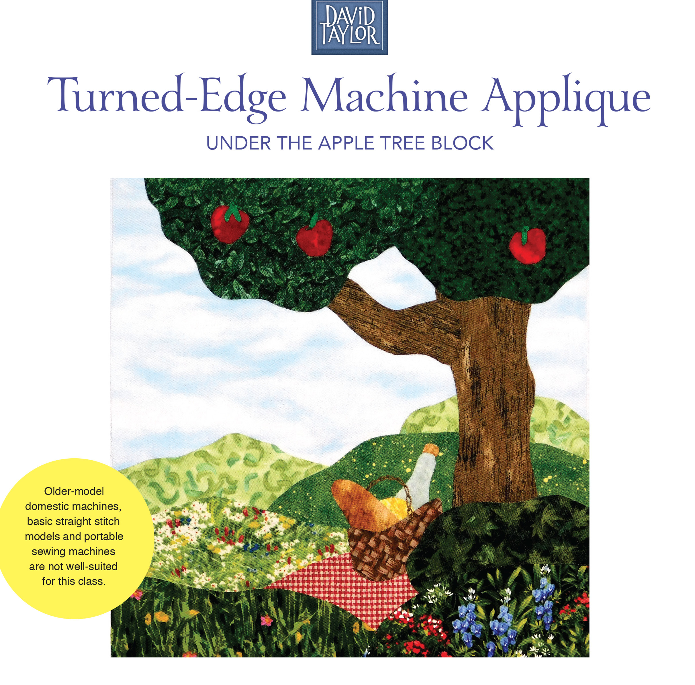 Turned Edge Machine Applique with David Taylor 50292