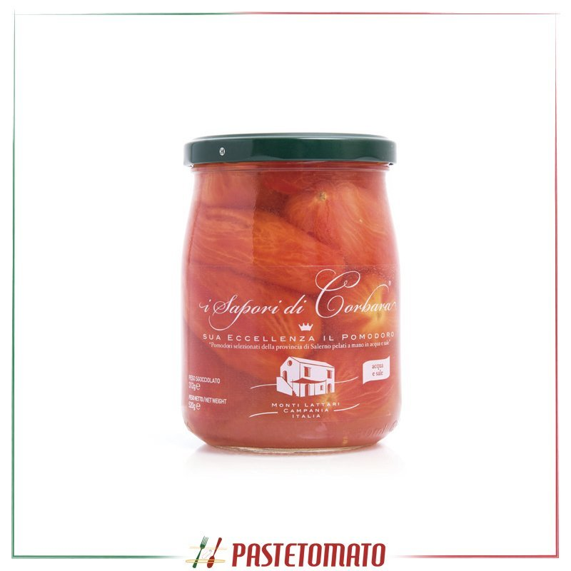 Pomodoro pelato a mano in salsa in acqua e sale - prodotto da I SAPORI DI CORBARA