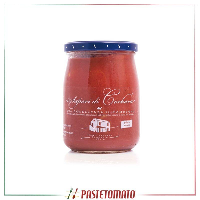 Pomodoro intero con buccia in succo di pomodorino di Corbara - prodotto da I SAPORI DI CORBARA