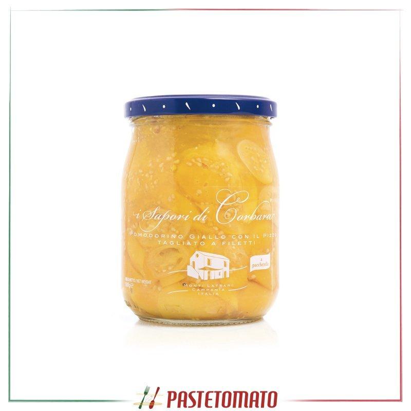 Pomodorino giallo con il pizzo tagliato a filetti - prodotto da I SAPORI DI CORBARA