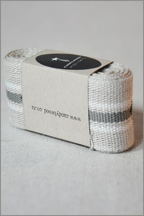 Paris - Woven Flax Ribbon 01176